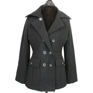 New York & Co.  Double Breasted Black Pea coat